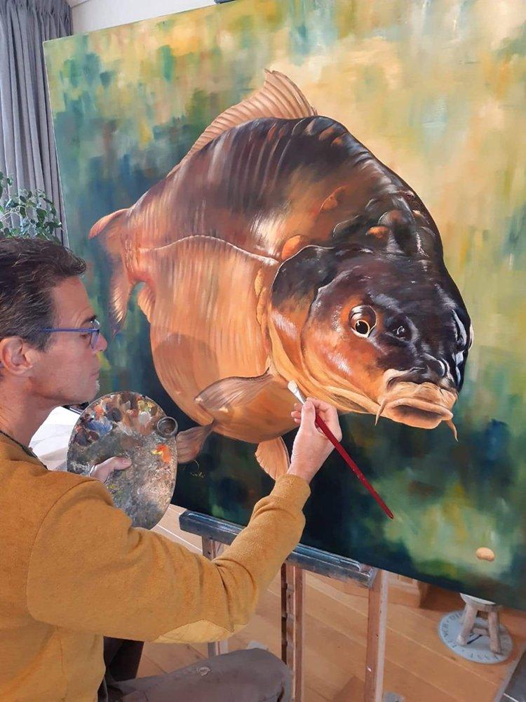 Ook dit jaar is de bekende kunstschilder Remko van den Berg weer aanwezig.